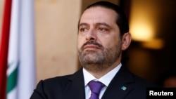 黎巴嫩总理哈里里在贝鲁特的政府大厦。(2017年10月24日)