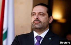 Lebanon's Prime Minister Saad al-Hariri at the governmental palace in Beirut, Lebanon, Oct. 24, 2017.