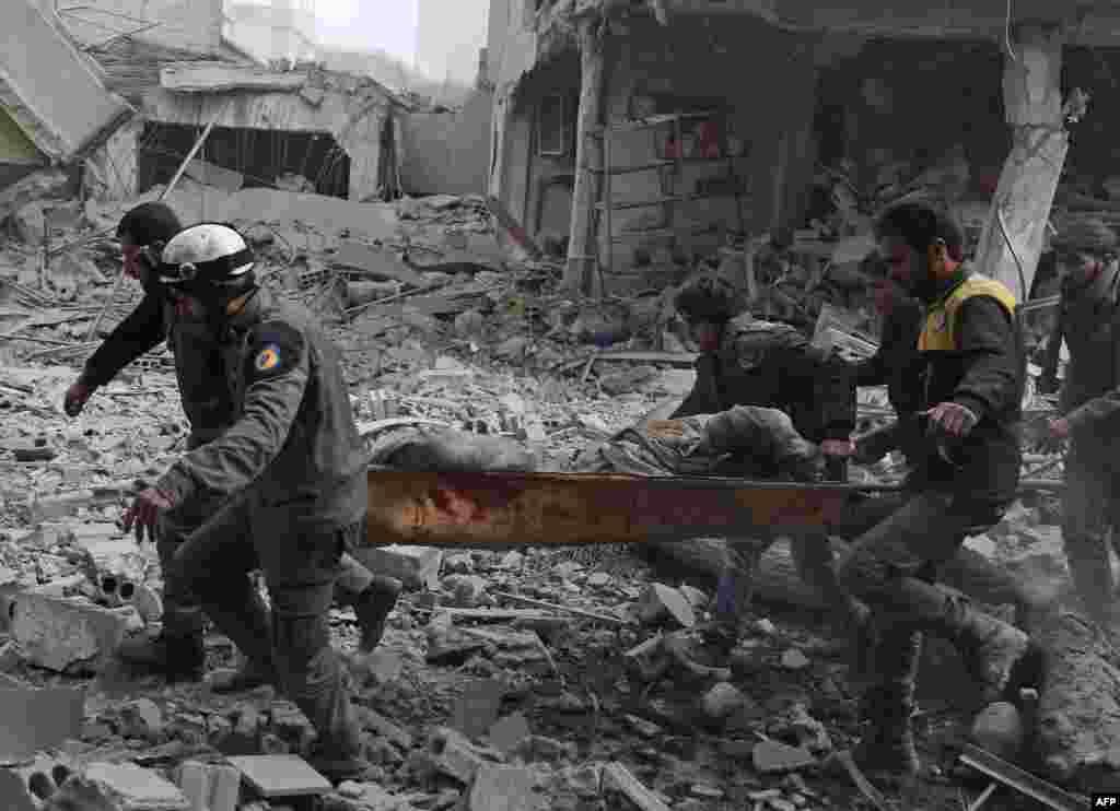 Suriye ordusu, Şam'ın doğusunda Guta'ya hava saldırısı düzenledi.