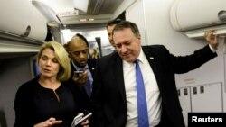 ABD Dışişleri Bakanı Mike Pompeo ve sözcü Heather Nauert