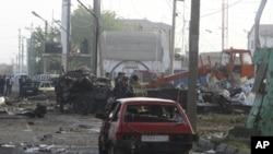 4일 두 건의 폭탄테러가 발생한 러시아 연방 자치공화국 다게스탄.