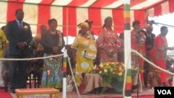 Mrs. Grace Mugabe in Chinhoyi, Mashonaland West Province. (File Photo)