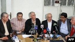 Các thành viên của Hội đồng Chuyển tiếp Quốc gia Syria họp tại Damascus