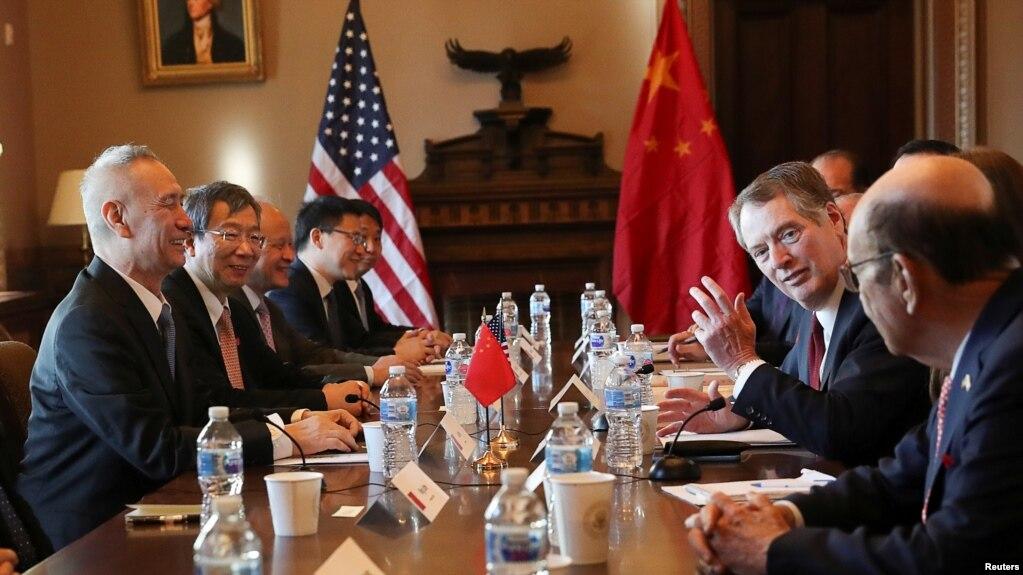 Hai phái đoàn Mỹ-Trung đàm phán thương mại ở Nhà Trắng