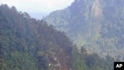 俄羅斯噴射客機在雅加達以南墜毀處