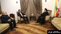 عکسی که از دیدار جابری انصاری و حسن نصرالله منتشر شده است.