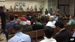 تعدادی از بستگان سه قربانی آمریکایی کشته شده در پایگاه هوایی اردن نیز در دادگاه حضور داشتند.