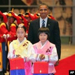 Le président Obama à la réception du sommet du G20, à Séoul
