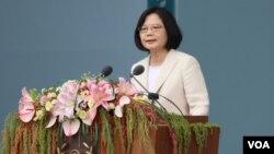 台灣總統蔡英文就職演說(美國之音齊勇明攝)