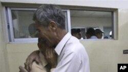 케타 지역 병원에서 희생자 유가족들