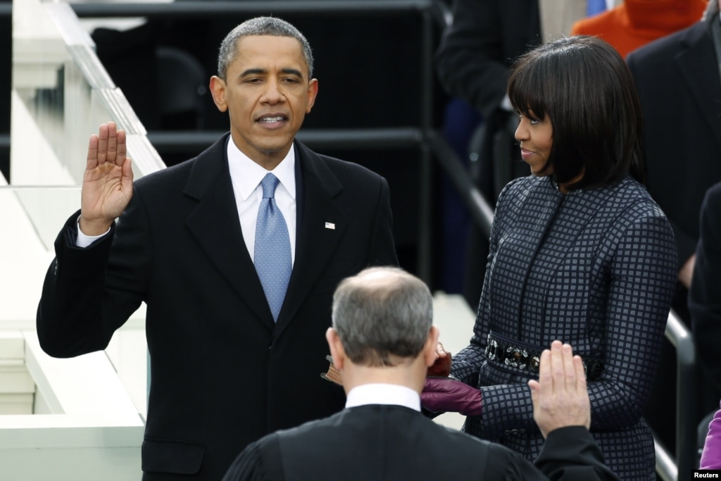 Obamas dance at inaugural balls for First president to be inaugurated on january 20