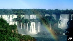 The Iguassu Falls in Brazil's Atlantic Rainforest. (file)