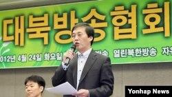 한국 내 탈북자들이 세운 대북 라디오방송인 '자유북한방송'의 김성민 대표. (자료사진)
