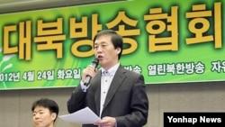 한국 내 탈북자들이 세운 대북 라디오방송인 '자유북한방송'의 김성민 대표.