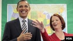 La premier Gillard dijo junto a Obama que el acuerdo también abre las bases australianas a los aviones estadounidenses.
