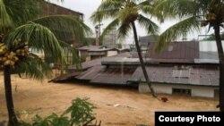 Kota Padang, Sumatra Barat dilanda banjir. (Foto courtesy: BNPB).