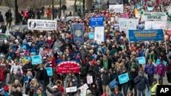 反墮胎抗議人士1月27日在國會山前舉行遊行集會。