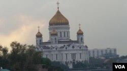 莫斯科的俄罗斯外交部大楼。(美国之音白桦拍摄)