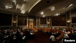 美國議會軍事委員會開會情形。