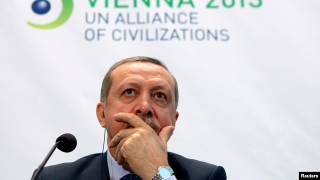FILE - Turkey's Prime Minister Tayyip Erdogan, Feb. 27, 2013.