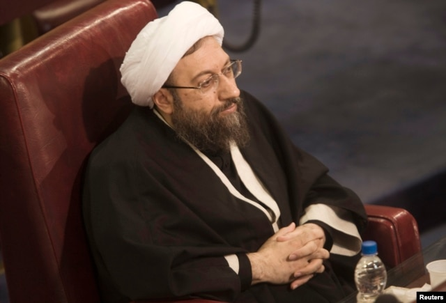 FILE - Ayatollah Sadegh Larijani, Iran's Judiciary Chief attending the 7th session of the Expert Assembly in Tehran February 23, 2010. REUTERS/Morteza Nikoubazl