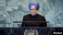 وزیر اعظم من موہن سنگھ جنرل اسمبلی سے خطاب کرتے ہوئے