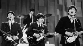 "The Beatles perform on the CBS ""Ed Sullivan Show"" in New York on Feb. 9, 1964."