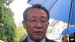 지난해 10월 2차 고위급 회담 후 결과를 설명하는 김계관 북한 외무성 제1부상