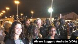 Membros da equipa olímpica de refugiados, Rio-2016, Yusra Mardini no primeiro plano