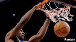 Le joueur Festus Ezeli des Golden State Warriors, Avril 2013. Source: Reuters