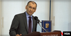 Uzbekistan's Ambassador to Washington, Javlon Vakhabov speaks during an event in Washington. (Photo: VOA Uzbek)