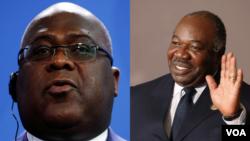 Le président de la RDC, Félix Tshisekedi (à g.) et son homologue gabonais Ali Bongo Ondimba sont les seuls francophones invités.