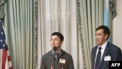 Нурлан Жаныбек и Серик Кулмырзаев на встрече в «Уолдорф-Астории»