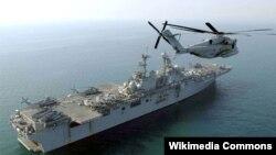 Kapal penyerang amphibi 'USS Boxer' mulai melakukan serangan dari lokasi di Teluk Persia hari Kamis (16/6).