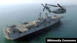 Tàu tấn công đổ bộ USS Boxer của Hải quân Mỹ.