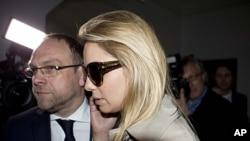 Yevgenia Tymoshenko, daughter of jailed former Ukrainian Prime Minister Yulia Tymoshenko, arrives at Germany's Free Democratic party (FDP) headquarters in Berlin, May 7, 2012.