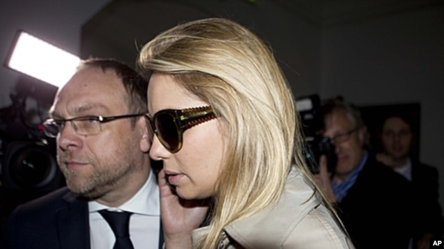 Yevgenia Tymoshenko, daughter of jailed former Ukrainian Prime Minister Yulia Tymoshenko, arrives at Germany's Free Democratic party (FDP) headquarters in Berlin, May 7, 2012.