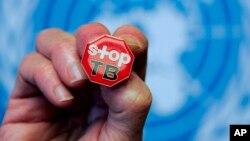 """Pini inayosomeka """"Stop TB"""" imeoneshwa baada ya ripoti ya WHO juu ya TB huko Geneva."""