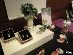 台北故宮的文化創意商品(美國之音張永泰拍攝)