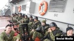 تصویری که در شبکه های اجتماعی درباره حضور نیروهای روسی در سوریه منتشر شده است