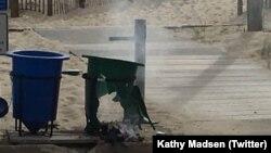 Cảnh sát cho biết một quả bom ống đã phát nổ trong một thùng rác trước khi cuộc chạy từ thiện diễn ra tại Seaside Park, NJ, ngày 17 tháng 09, 2016.