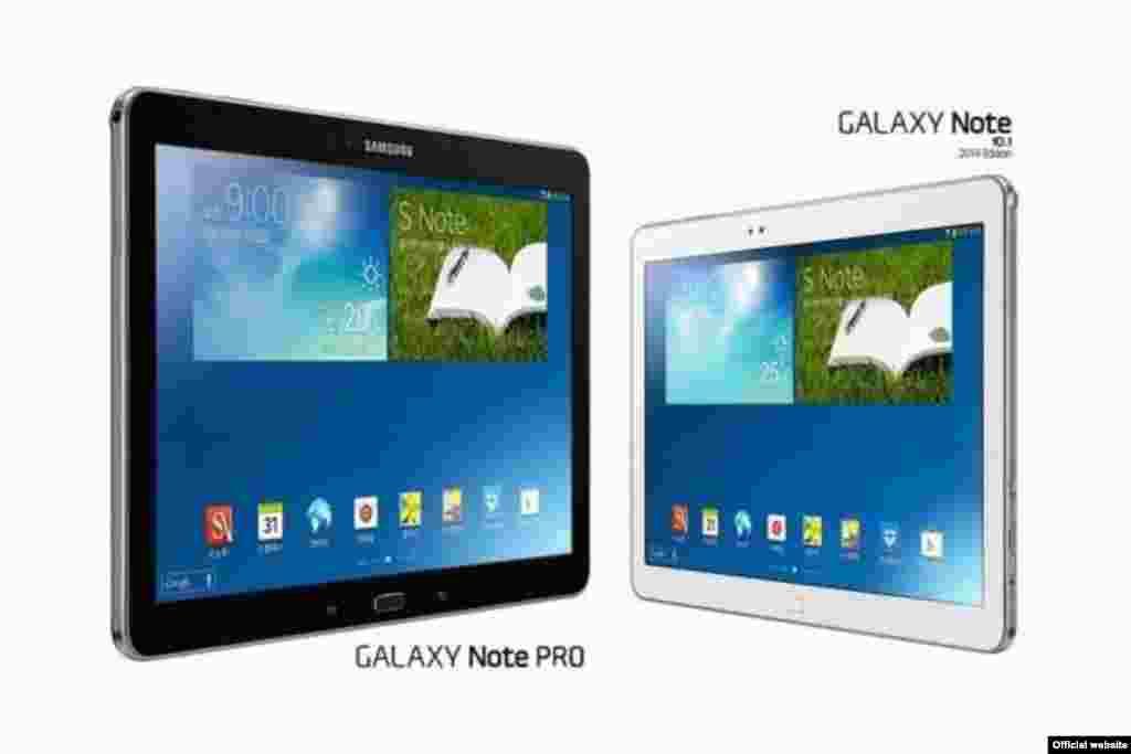 Samsung Galaxy Note Pro 12.2, 3 GB de RAM, com opção de escolha entre processador Exynos 5 Octa da Samsung, com oito núcleos, mas sem 4G, ou a versão com o Snapdragon 800 da Qualcomm, com o 4G, mas quad-core