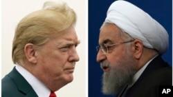 트럼프 미국 대통령(왼쪽)과 하산 로하니 이란 대통령.
