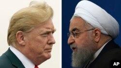 트럼프 미국 대통령과 하산 로하니 이란 대통령.