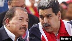 Президенты Никарагуа Даниэль Ортега и Венесуэлы Николас Мадуро (архивное фото)