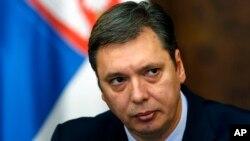 Naći način da se slučaj reši, bez sukoba: Aleksandar Vučić, premijer Srbije (AP Photo/Darko Vojinovic)