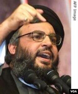 Pemimpin Hezbollah, Hassan Nasrallah.