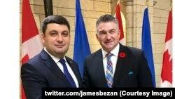 Джеймс Безан з Володимиром Гройсманом