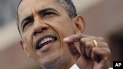 美国总统奥巴马9月5日劳工节那天在底特律发表讲话