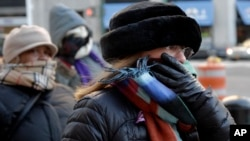 People bundle up against the cold in New York City, Jan. 7, 2014.